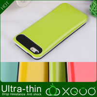 hard plastic with silicone for iphone 5 wallet case