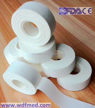 Straight Edge 100% Cotton Zinc Oxide Adhesive Tape, Latex Free