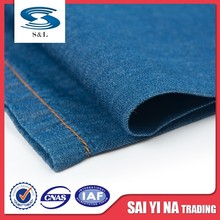 Fire resistant chambray jean fabric 100 cotton twill yarn dyed denim fabric