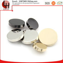 Flat front round shank clothing eco-friendly metal buttons