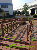 Eco tech wood termite proof anti-crack bridge fences wpc fencing rail handlauf