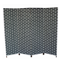 wholesale handmade woven hall and dining room partition make folding accordion room dividers home decorative