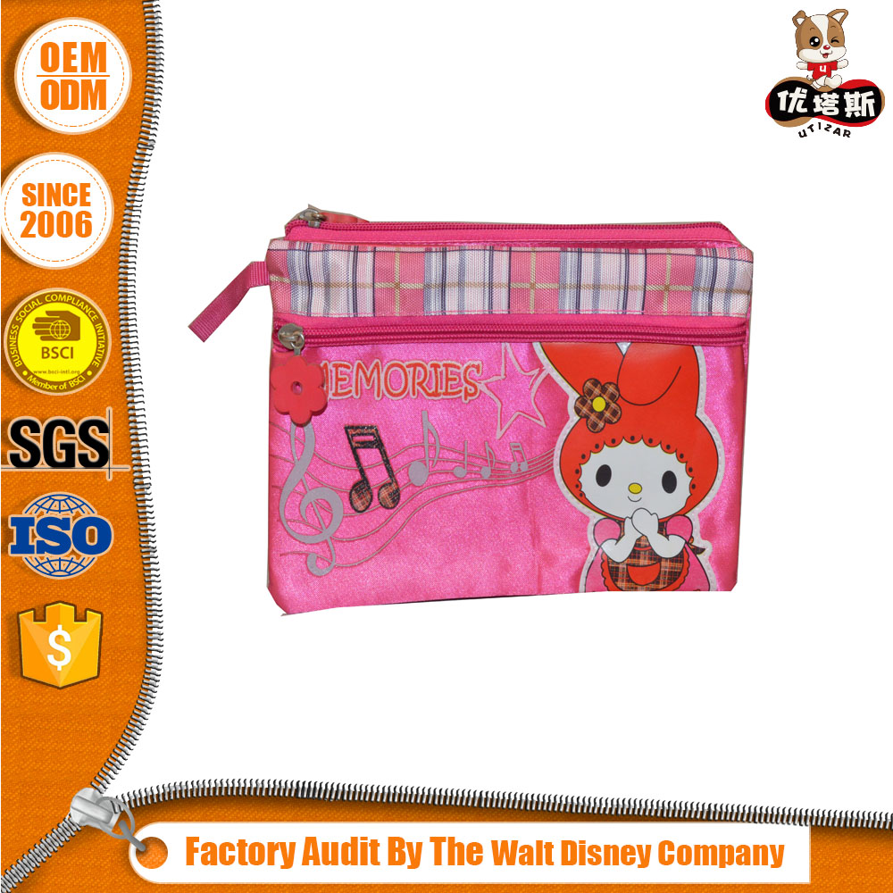 Hot-stamping Lowest Price High-grade Custom Pencil Bag For Fashion Girls