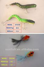jointed lure, frog lures tackle,cheap price