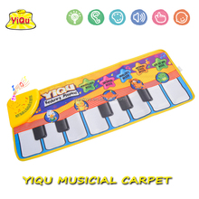 YIQU musical mat Piano Mats baby music carpet baby play mat for kids Russian