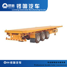 Low Flatbed low bed Semi Trailer tri-axle flatbed trailer