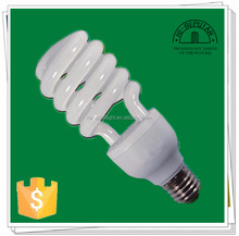 China High Brightness 5w-26w half spiral energy saver bulbs prices