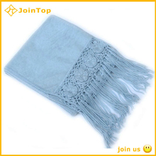 Jointop China Supplier knitted crochet beaded scarf