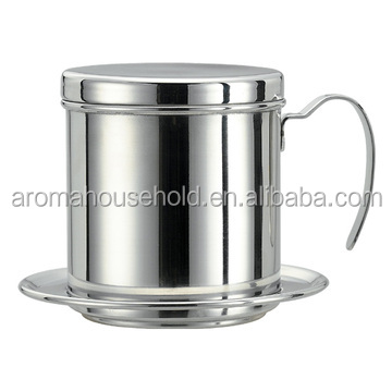 custom unique stainless steel Vietnam Coffee Dripper maker