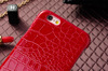 Leather back cover case for iphone 6 crocodile leather case PC hard case Mix colors