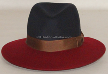 Black and red fedora hat, two tone fedora
