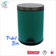 Mini oval green powder coating stainless steel indoor dustbin for living room