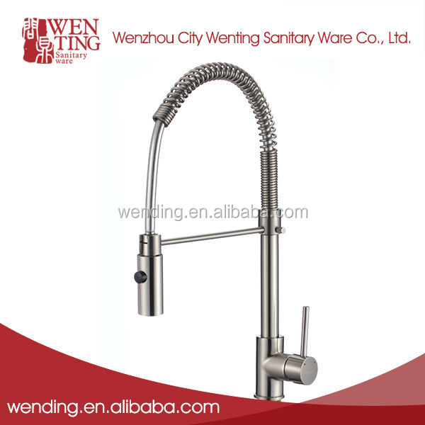 Wenting America style good price pull down spring kitchen taps