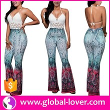 Wholesale Sexy Club wear Matching Tops and Harem Pants Set for Women