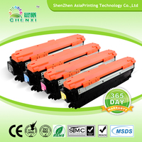 CE740A/CE741A/CE742A/CE743A China best quality compatible color laser toner for HP CP5225 from Shenzhen gold supplier