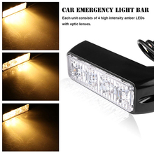 DC 12V 3W or 4W LED Amber LED Warning Strobe Light Yellow Flashing Warning Light LED Emergency Warning Light