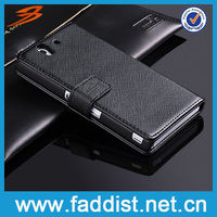 Genuine Leather Bumper Case for Sony Xperia Z L36H Wallet Case