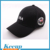 Customize new designer brand 3d embroidery 6 panel baseball team black hat