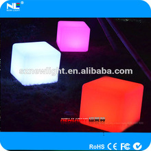 Led light cube to decorate home and garden