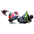 Set of 2 stunt remote control battle rc bumper car with drivers