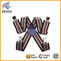 High Quality Kids Elastic Suspender Belt with Metal Clips