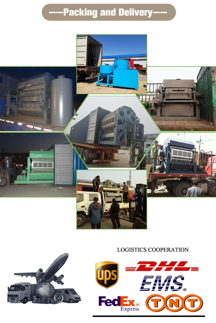 Recycle waste paper box making egg tray making machine/egg farm machine/egg carton making machine