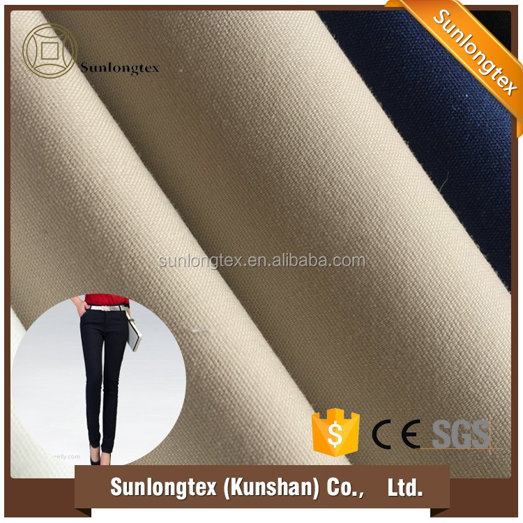 material fabrics of cotton nylon fabric for making clothes ladies pant,