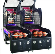 Factory price core Basketball shooting machine/indoor basketball shooting game
