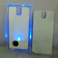 New LED sublimation cases for Samsung Galaxy Note 3 Blank heat press LED PC case with metal insert
