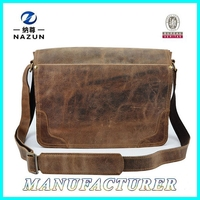 PU leather office briefcase bag crazy horse leather bags