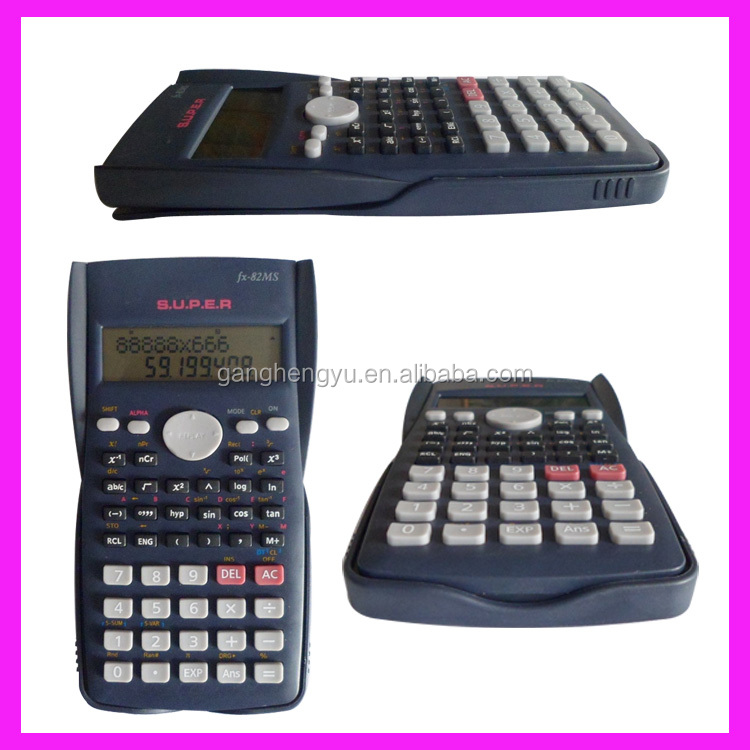Basic Function Electronic Student Examination 2-line Scientific Calculator FX-82MS