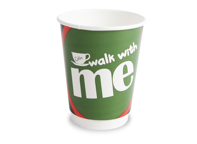 Disposable printed 12oz double wall juice paper cup