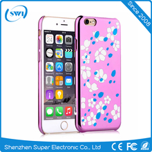 Comma Brand Cute Painted Plastic Hard PC Case Bloom Style Phone Back Cover Skin Shell For iphone 6 CASE