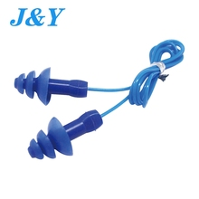 Funny mushroom & christmas tree type silicone noise reduce non-toxic silicone swim gel soundproof ear plugs/ earplugs with cord