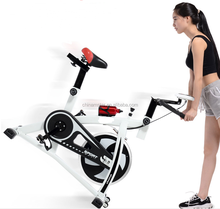 China White Exercise Bike, , Indoor Cycling Spinning Bike for Gym