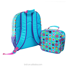 Fashion Full Printing lovely Children backpack with Lunch bag