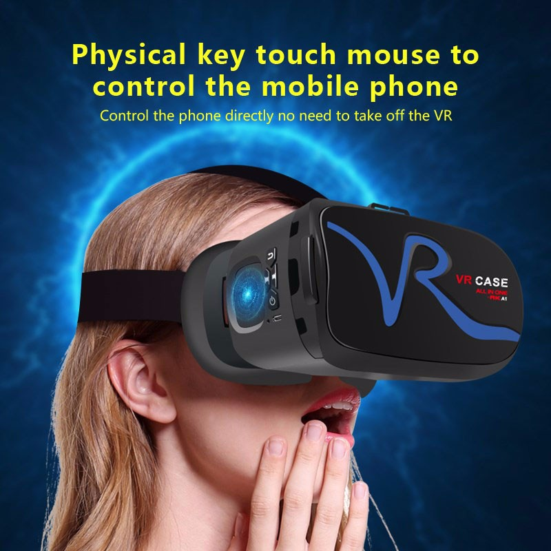 Colorful high quality RK-A1 new vr case 3d vr glasses all in one vr headset for iphone 7, samsung s7, xiaomi Mix