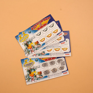 High quality amusement machine scratch card for mobile phones