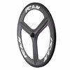 ICANBIKES 700C clincher 23mm width 3K matte front carbon tri spoke triathlon bike wheel
