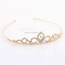 metal clip butterfly hair Wedding Bridal Tiara Crown HG048