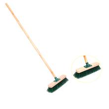 China Plastic broom and brushes BSCI Floor Push Broom with long stick