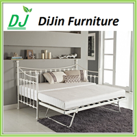 Modern Metal Leisure wrought iron Adult Bali Day Bed With Trundle