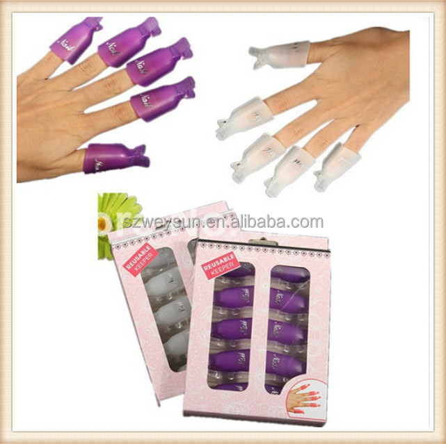 Acrylic Reusable Gel Nail Polish Remover Wrap Nail Art Soak Off Nail Polish Remover Cleaner Clip Cap Gel Remover Tool