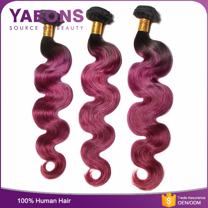 Deep wave color 99j 100% real human hair 3 bundles red brazilian hair weave