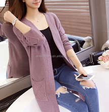 d100031f handmade cotton v-neck coat young ladies fashion sweater 2016