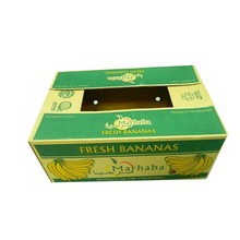Customized Size and Printing OEM Corrugated Fresh Banana Carrier Shipping Carton Box