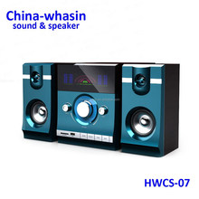 two-way, 2.1 speakers portable horn speaker with led light sound box music equipment concert sound system active speaker