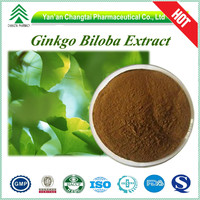 HPLC GMP factory Ginkgo biloba L extract light yellow-brown powder