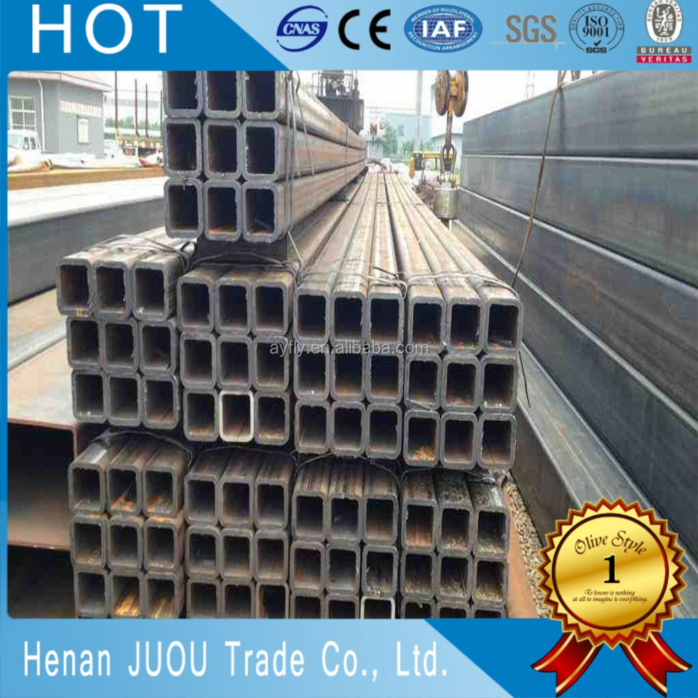 di tube k9 ms hollow section square steel pipe/iron square tube gate