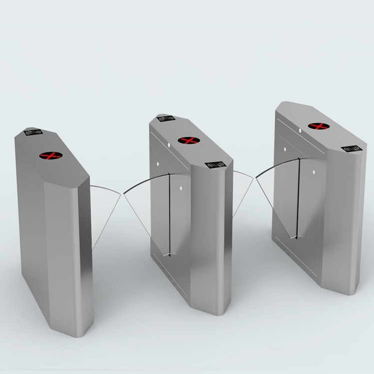 CE Approved Access Door Alarm Flap Turnstile Gate with IR Sensor